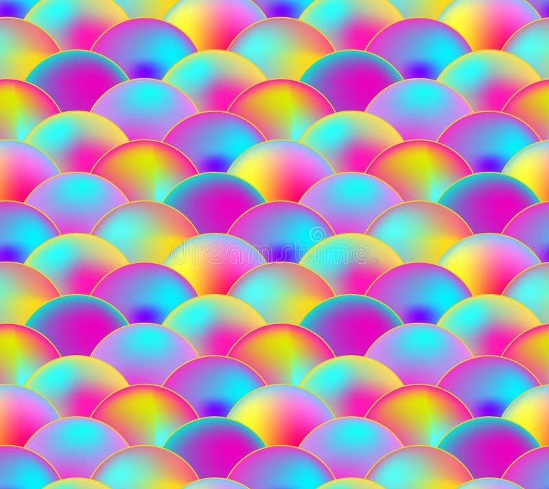 Vector Naadloos Patroon, Regenboogschaal, Kleurrijke Illustratie royalty-vrije illustratie