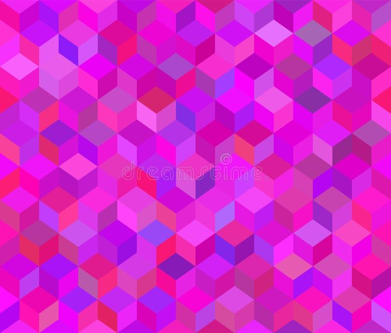 Vector naadloos patroon Roze 3d achtergrond royalty-vrije illustratie