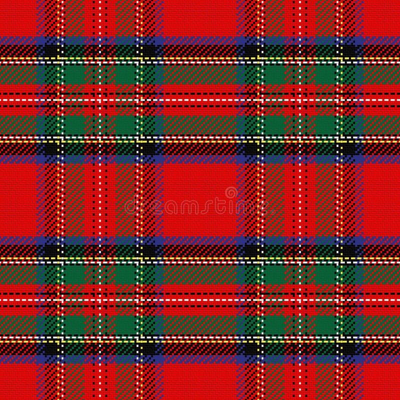 Vector naadloos patroon Schots geruit Schots wollen stof vector illustratie
