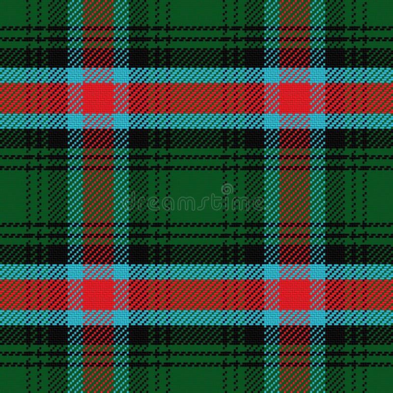 Vector naadloos patroon Schots geruit Schots wollen stof Georgië vector illustratie