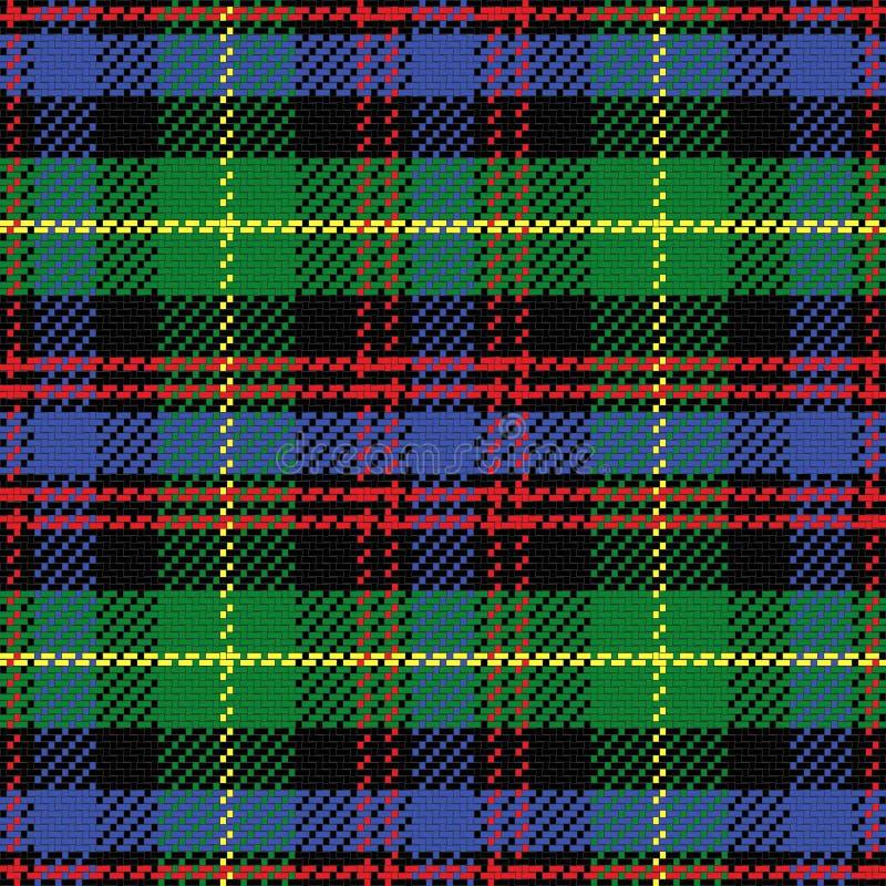 Vector naadloos patroon Schots geruit Schots wollen stof Zwarte Watc vector illustratie