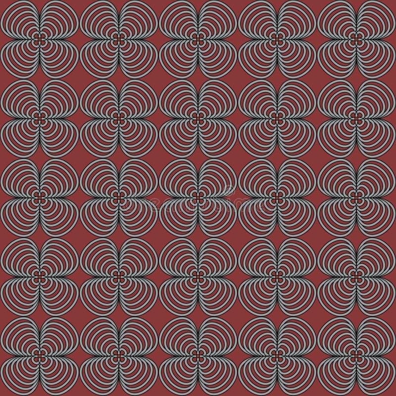 Vector naadloos patroon van abstracte bloemblaadjes vector illustratie