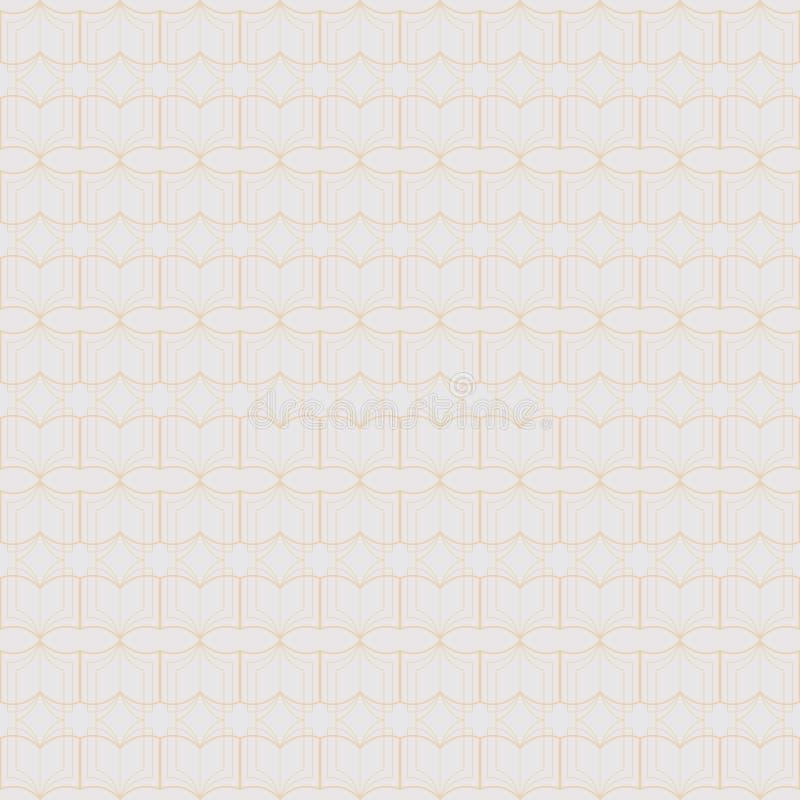 Vector naadloos patroon van abstracte die lijnkunst, van boeken wordt gemaakt vector illustratie