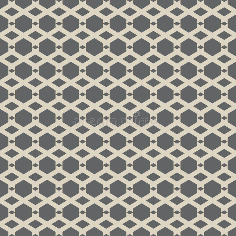 Vector naadloos patroon van abstracte zeshoek stock illustratie