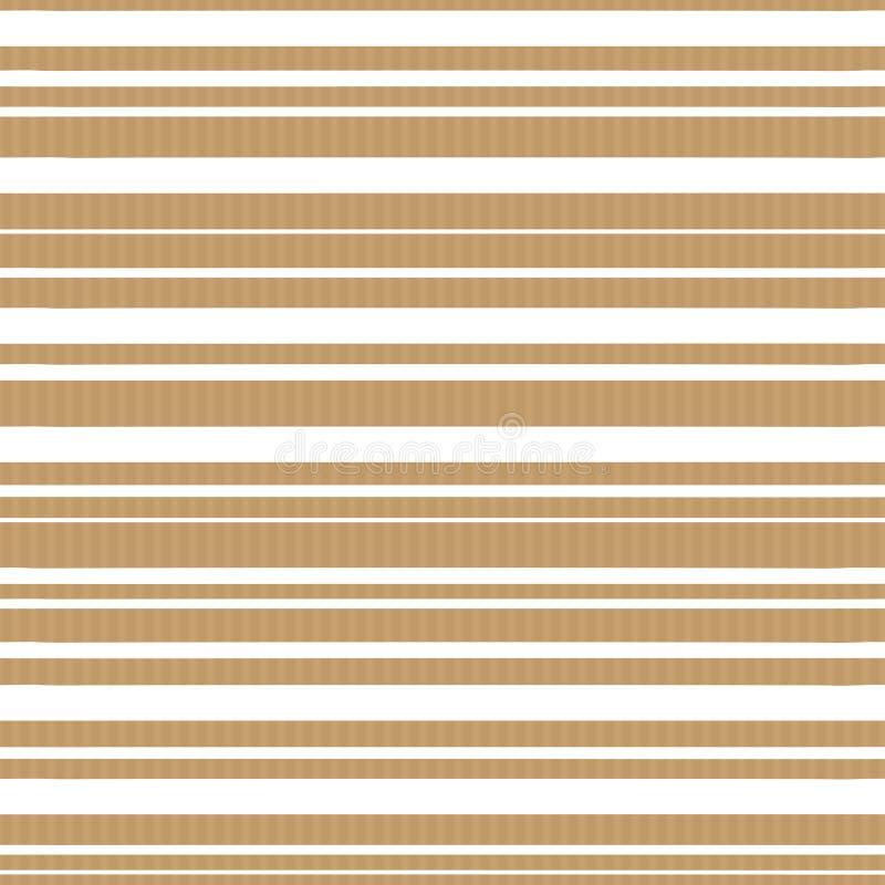 Vector naadloos patroon van ambachtdocument backround met witte strepen stock illustratie
