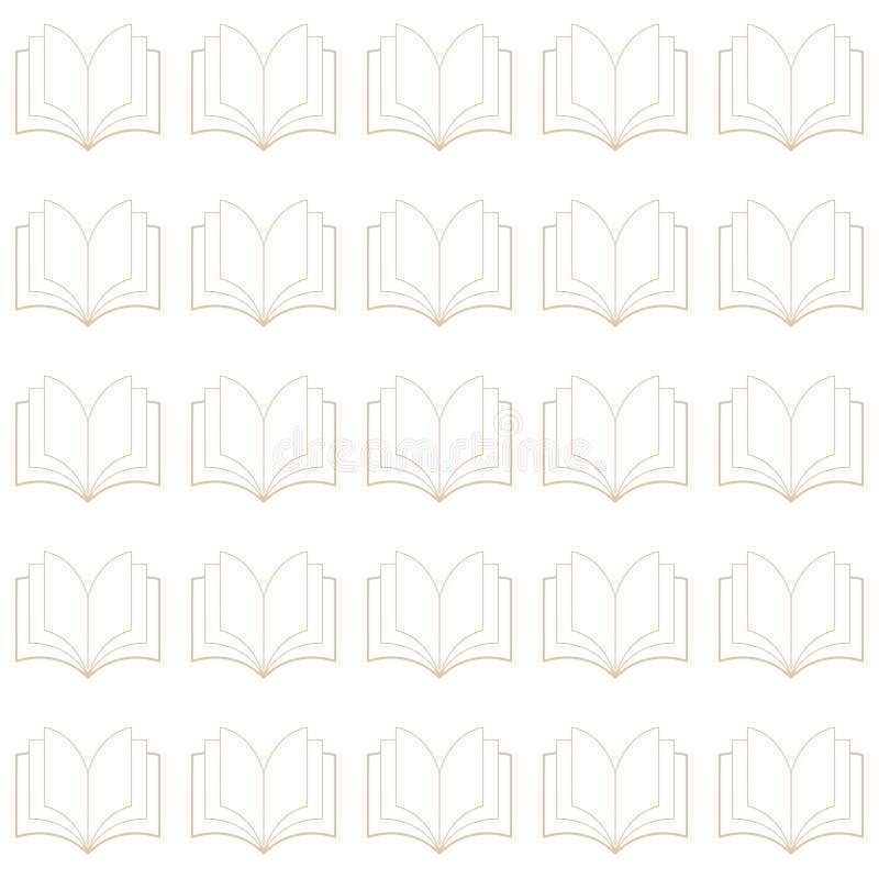 Vector naadloos patroon van boeken, schoon en minimalistisch royalty-vrije illustratie