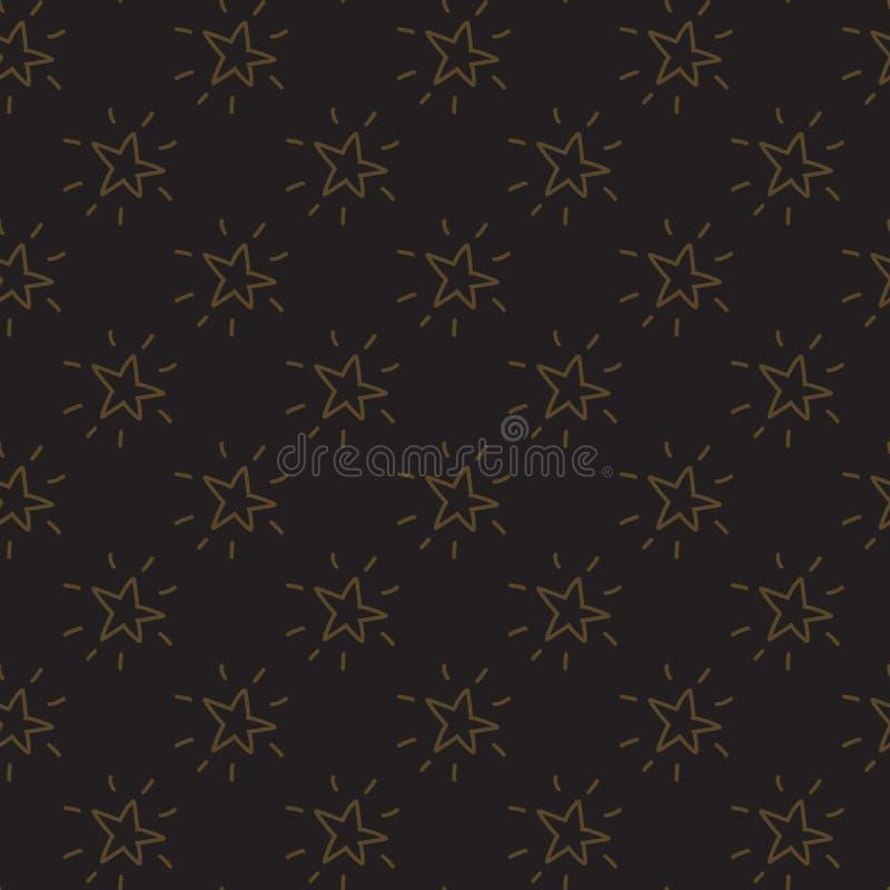 Vector naadloos patroon van de sterren van de handtekening royalty-vrije illustratie