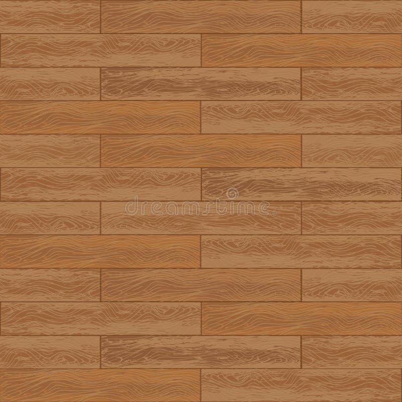 Vector naadloos patroon van donkere houten geweven panelen vector illustratie