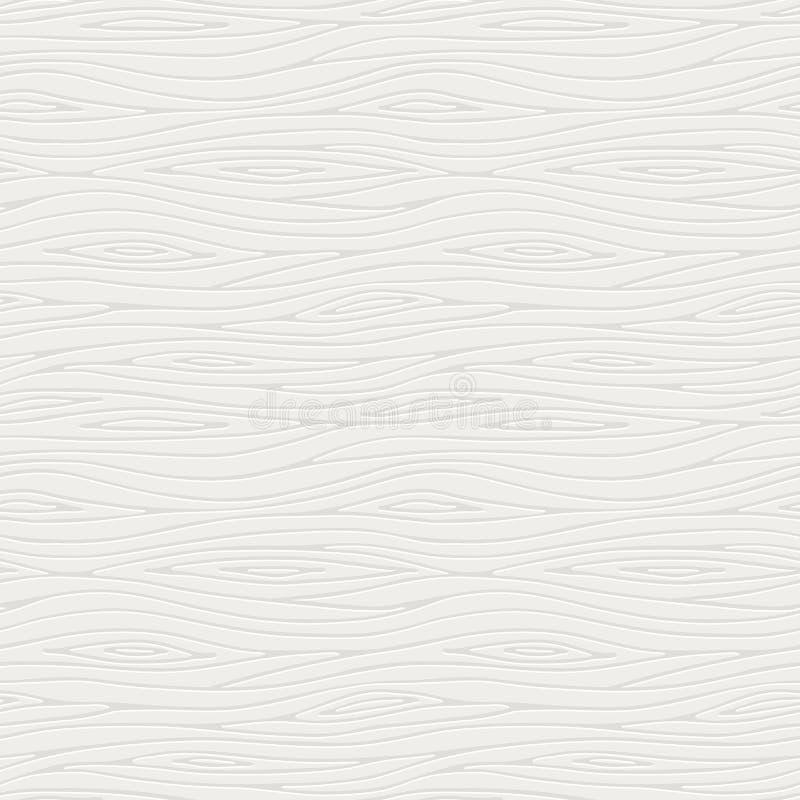 Vector naadloos patroon van een witte houten textuur stock afbeelding