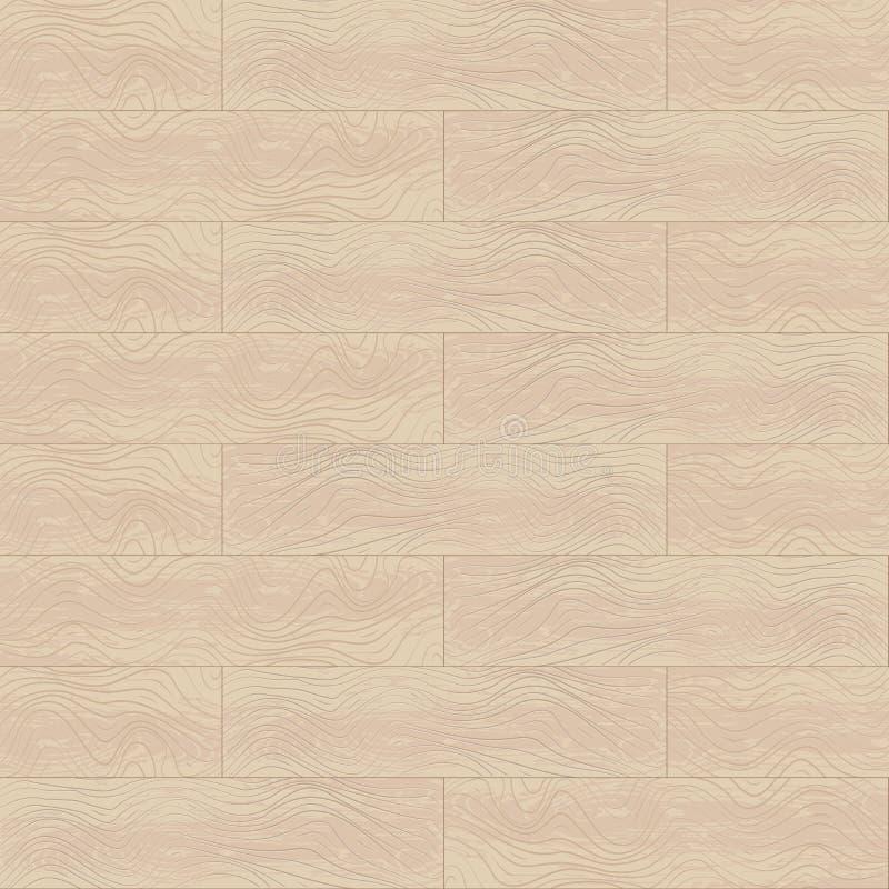 Vector naadloos patroon van eiken hout geweven panelen royalty-vrije illustratie