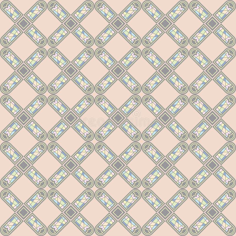 Vector naadloos patroon van Europese sierstijl stock illustratie