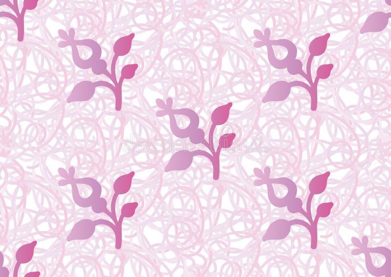 Vector naadloos patroon van gestileerd bloemenmotief royalty-vrije illustratie