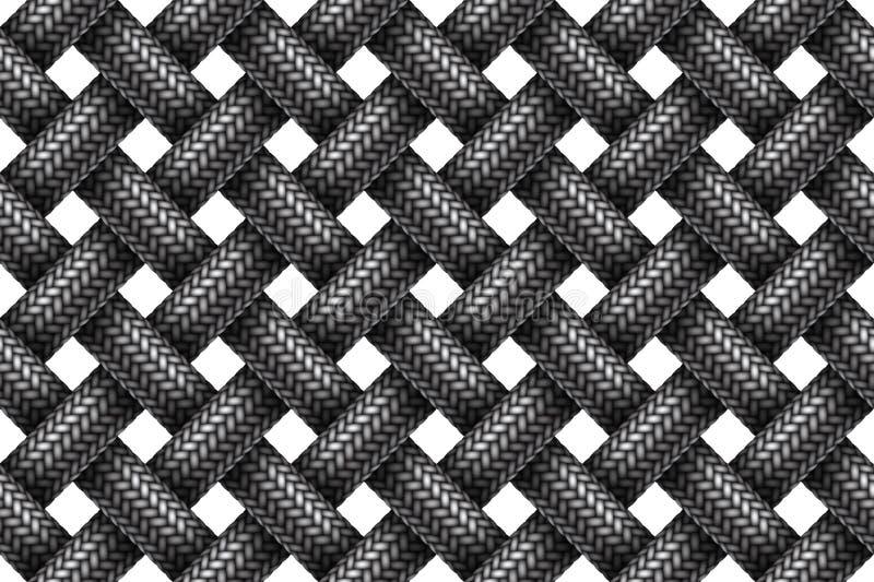 Vector naadloos patroon van geweven stof gevlechte koorden vector illustratie