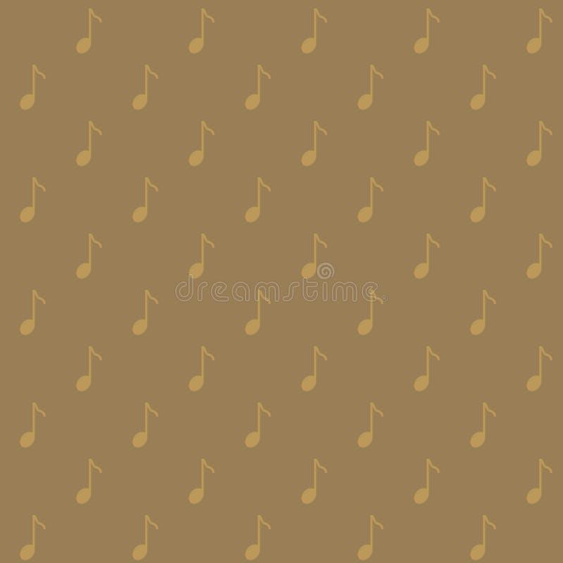 Vector naadloos patroon van muzieknoot in eenvoudige en minimalistische stijl royalty-vrije illustratie