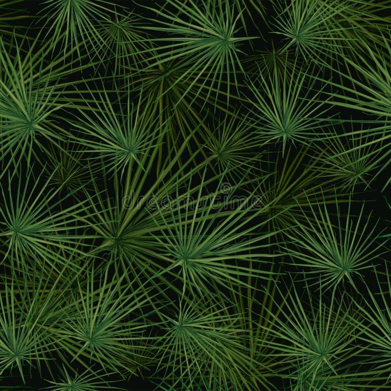Vector naadloos patroon van palmbladen stock illustratie