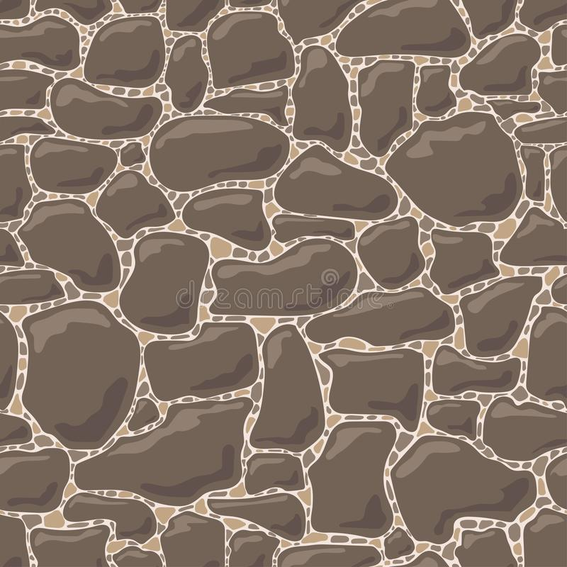 Vector naadloos patroon van stenen stock foto