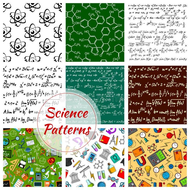 Vector naadloos patroon van wetenschap en kennis vector illustratie