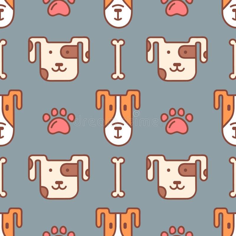 Vector naadloos patroon voor dierenwinkel royalty-vrije illustratie