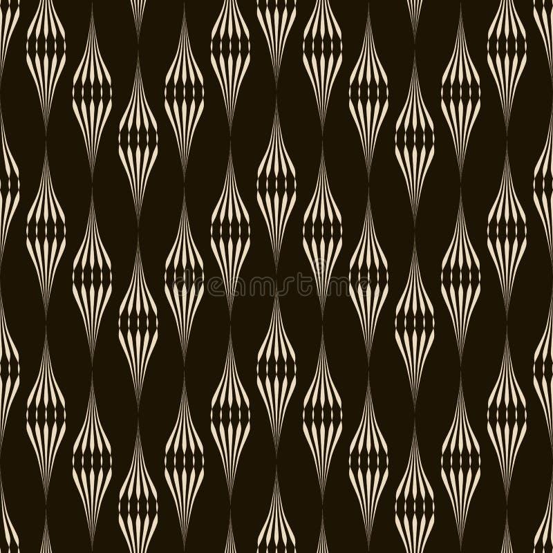 Vector naadloos patroon zwart-wit ornament met gestileerd geomet vector illustratie