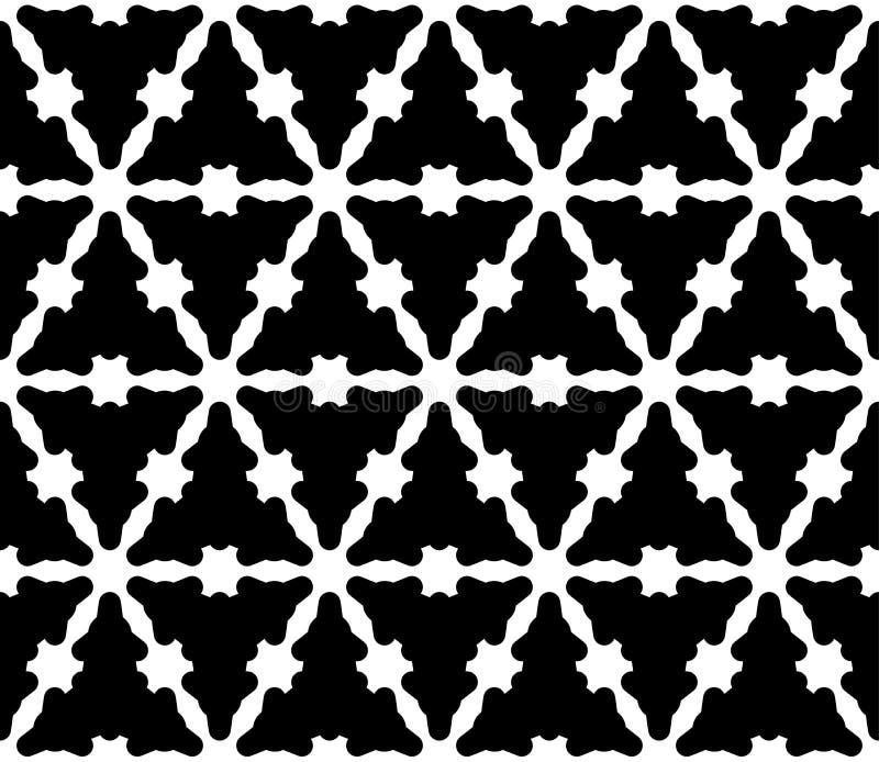 Vector naadloos patroon, zwart-wit vlot driehoekig rooster royalty-vrije illustratie