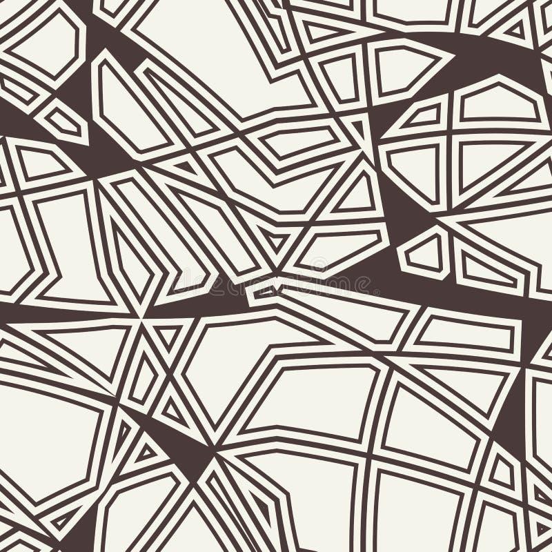Vector naadloos patroon Zwart-witte abstracte achtergrond stock illustratie