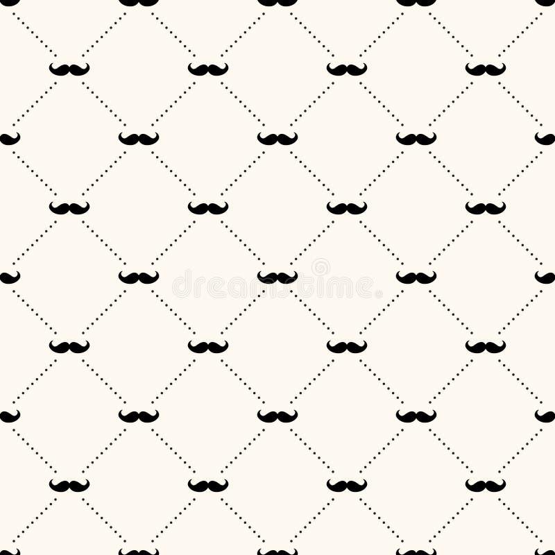 Vector naadloos retro patroon stock illustratie