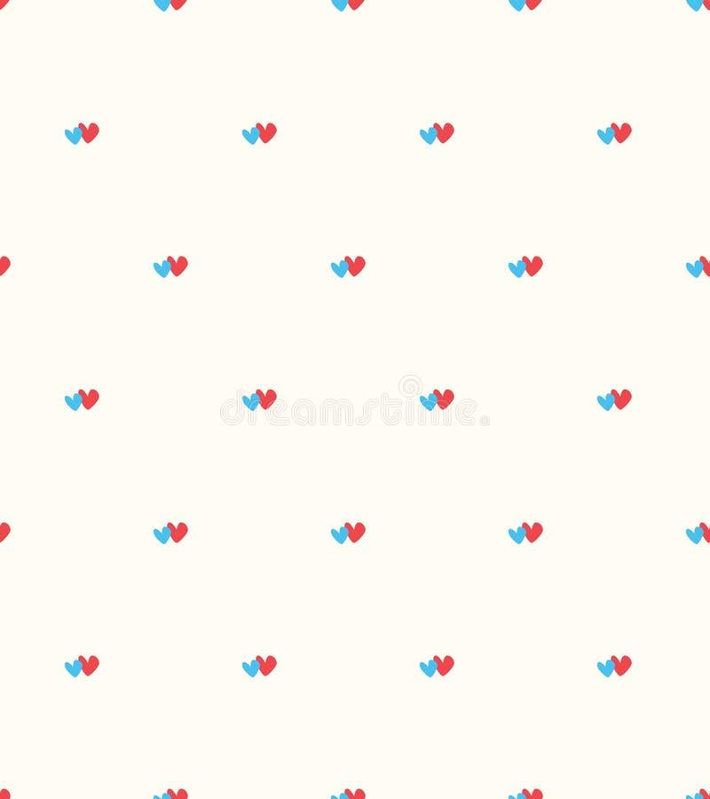 Vector naadloos retro patroon, eenvoudige moderne achtergrond vector illustratie