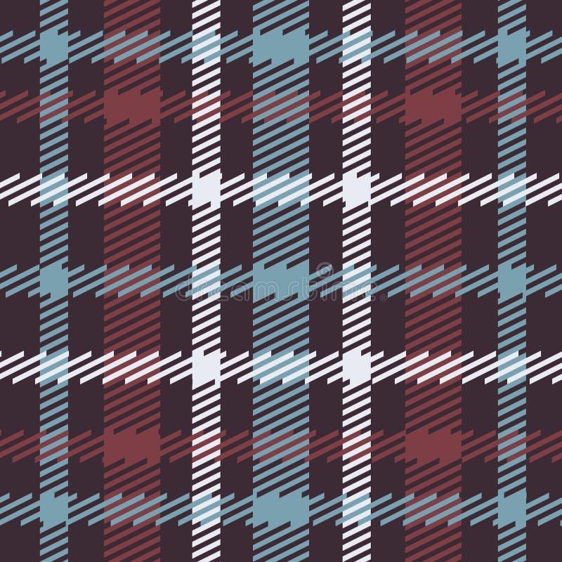 Vector naadloos Schots geruit Schots wollen stofpatroon in blauw, rood, wit, marine stock illustratie