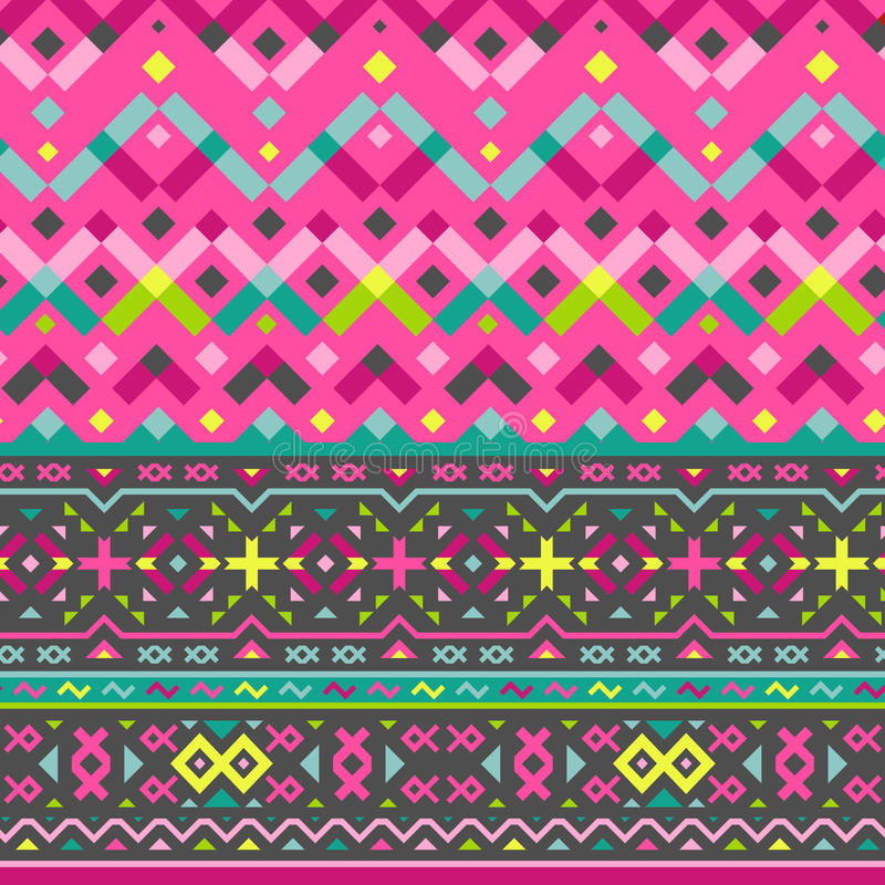 Vector Naadloos Stammenpatroon voor Textielontwerp vector illustratie