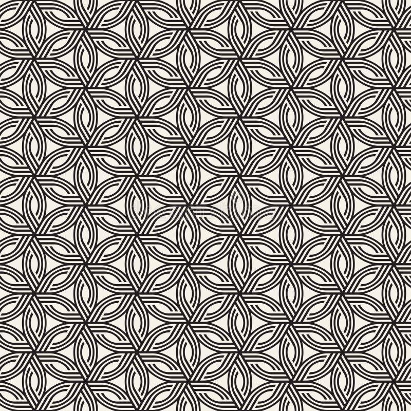 Vector naadloos subtiel roosterpatroon Moderne modieuze textuur met zwart-wit latwerk Het herhalen van geometrisch net stock afbeelding
