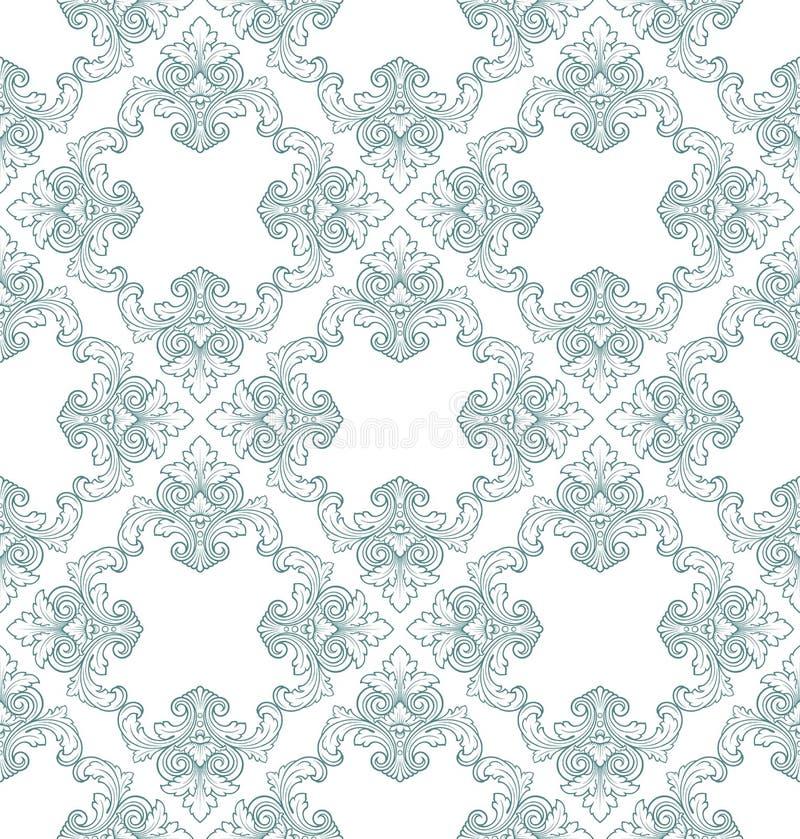 Vector naadloos uitstekend damastpatroon vector illustratie
