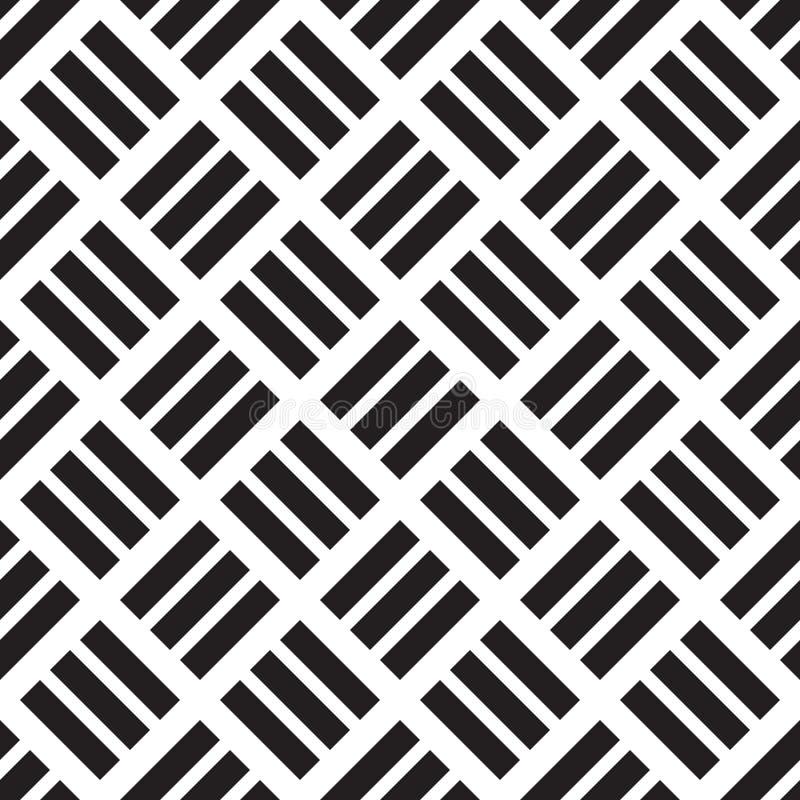 Vector naadloos vierkant geometrisch patroon vector illustratie