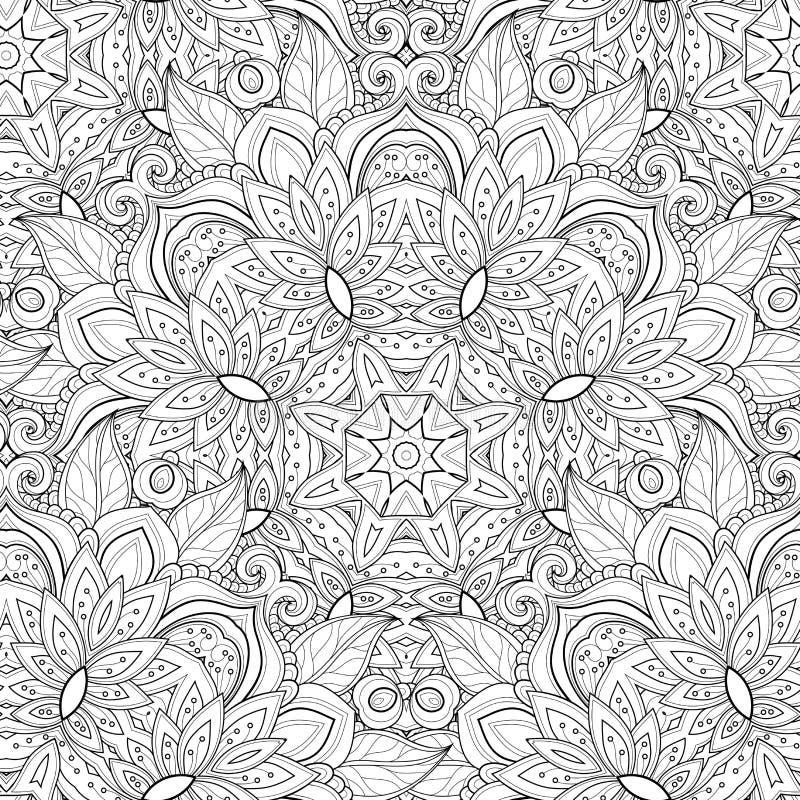 Vector Naadloos Zwart-wit Overladen Patroon vector illustratie