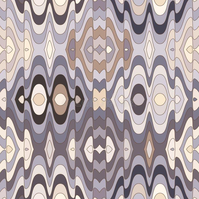 Vector Naadloze Abstracte Golvende Achtergrond royalty-vrije illustratie