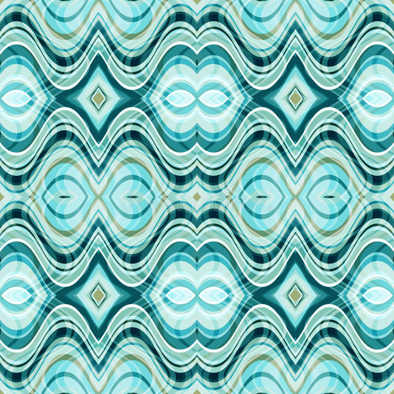 Vector Naadloze Abstracte Golvende Achtergrond stock illustratie