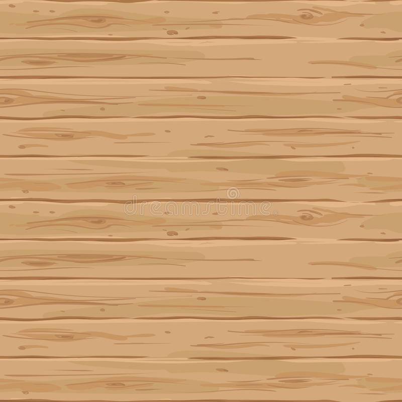 Vector naadloze beige horizontale omheining Retro textuur van de raad Uitstekende houten hand-drawn achtergrond vector illustratie