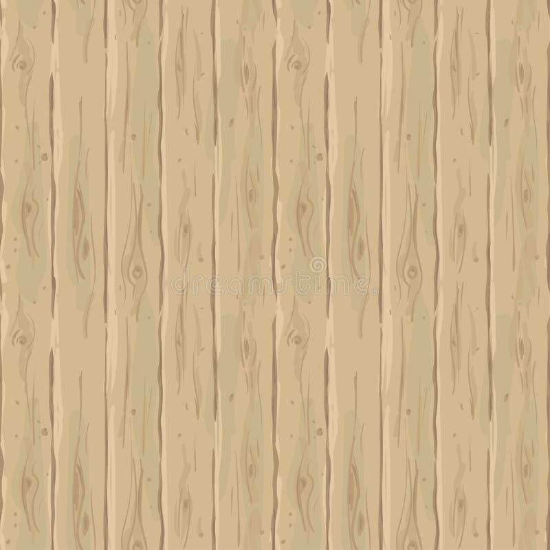 Vector naadloze beige omheining Retro textuur van de raad Uitstekende houten hand-drawn achtergrond stock illustratie