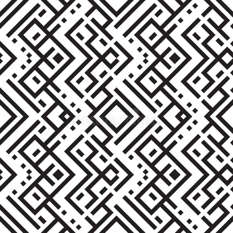 Vector naadloze geometrische patroon Abstracte geometrische naadloos royalty-vrije stock foto's