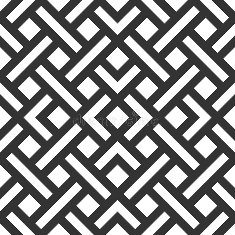 Vector naadloze geometrische patroon Abstracte geometrische naadloos stock foto
