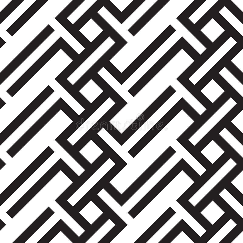 Vector naadloze geometrische patroon Abstracte geometrische naadloos royalty-vrije stock foto