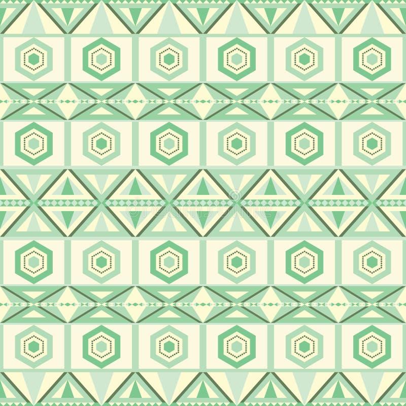 Vector naadloze geometrische stammen kijkt patroon royalty-vrije illustratie