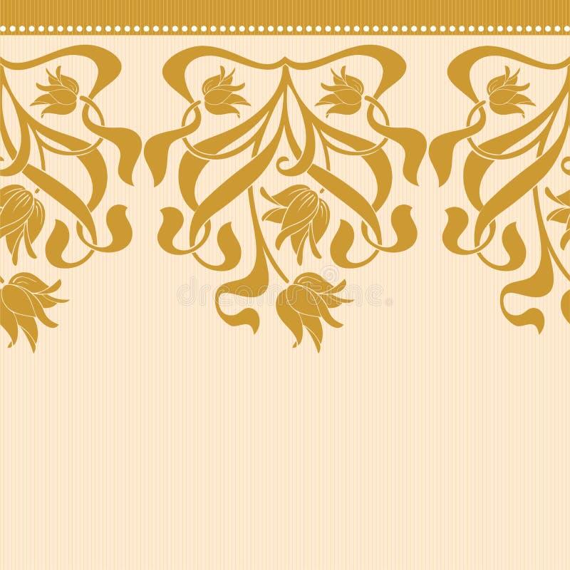 Vector naadloze grens in Victoriaanse stijl royalty-vrije illustratie