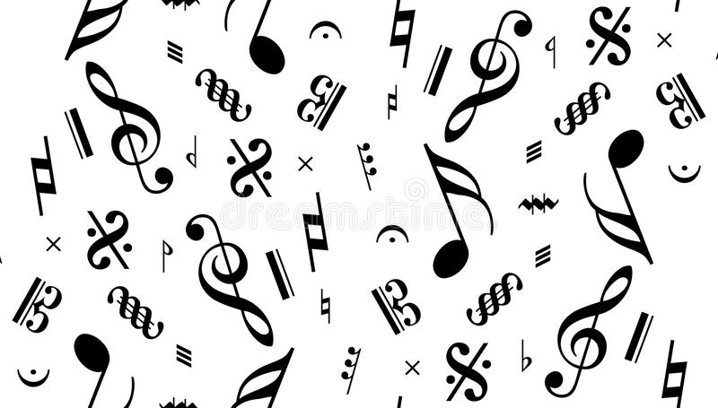 Vector naadloze muzieknota royalty-vrije illustratie