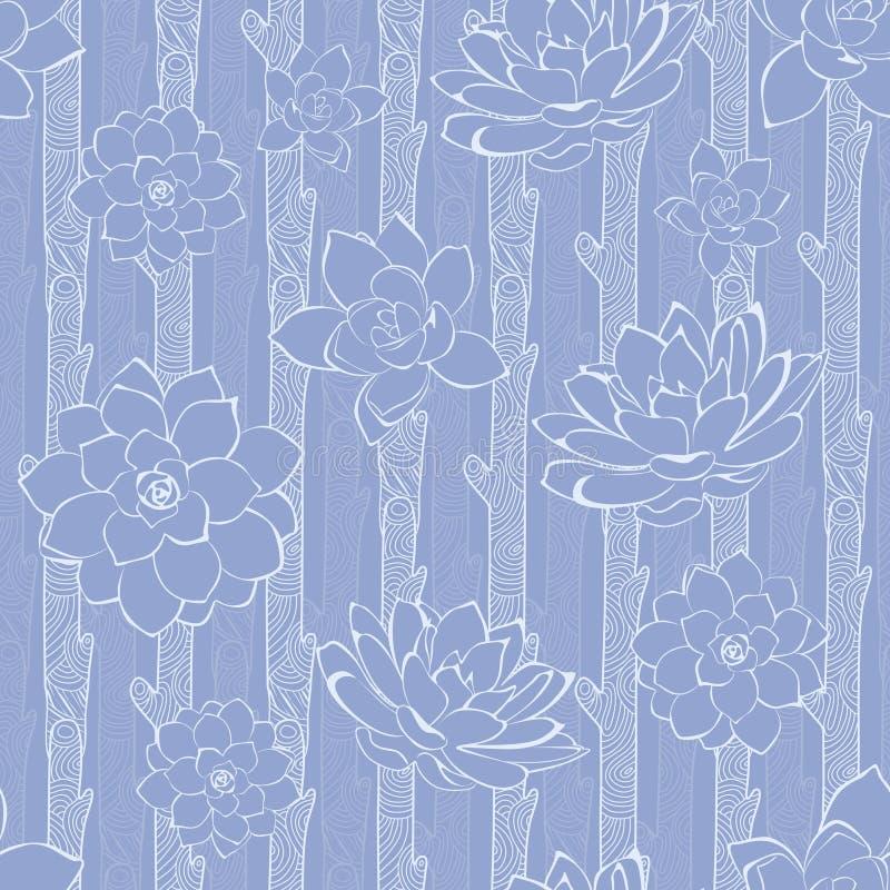 Vector Naadloze Pastelkleur Purpere Bloeiende Takken royalty-vrije illustratie
