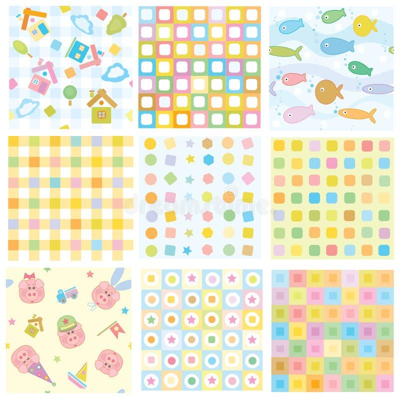 Vector naadloze patronen voor uw ontwerp. stock illustratie