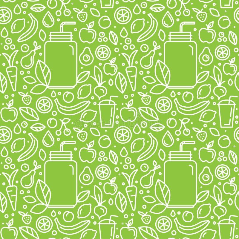 Vector naadloze patroon en achtergrond voor voedsel verpakking vector illustratie