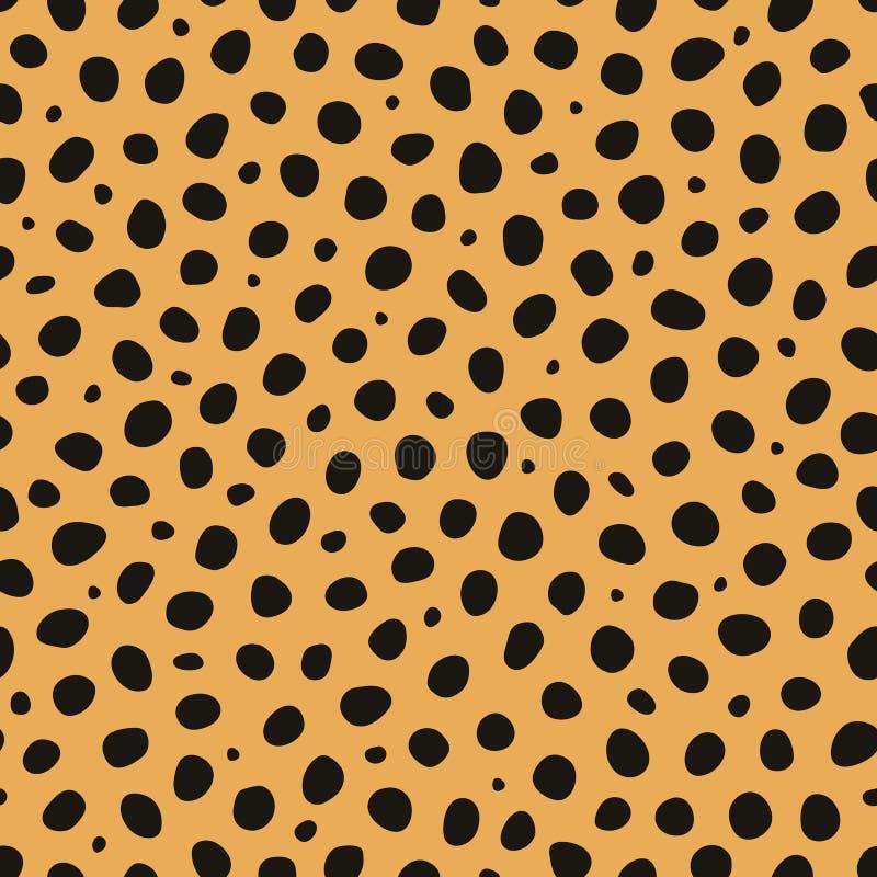 Vector naadloze patroon van de jachtluipaard het dierlijke druk stock illustratie