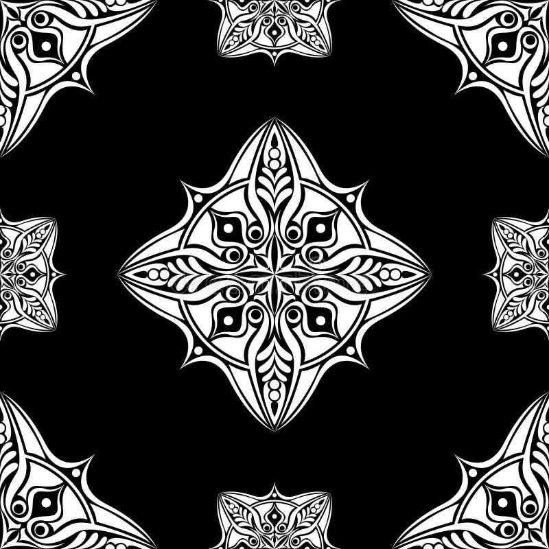 Vector naadloze patroonachtergrond Klassiek luxe ouderwets ornament, koninklijke victorian naadloze textuur voor behang vector illustratie