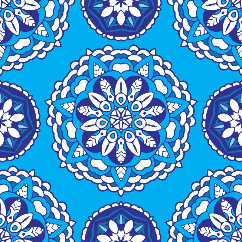 Vector naadloze patroontegel royalty-vrije illustratie