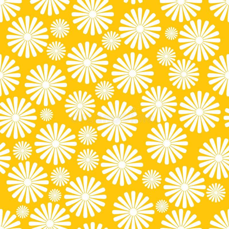 Vector naadloze servetachtergrond met bloemen stock illustratie